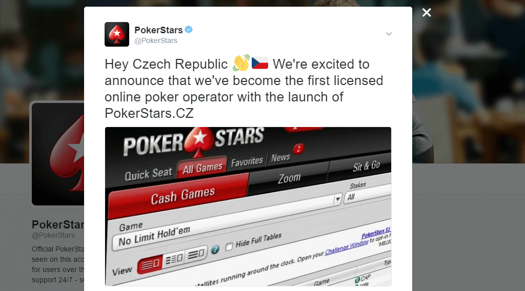 Pokerstars Tweet